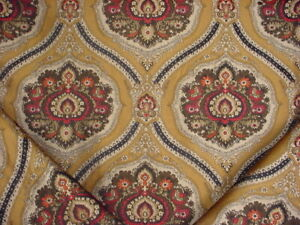 11Y-BRUNSCHWIG-amp-FILS-FRENCH-ARABESQUE-TEARDROP-BROCADE-UPHOLSTERY-FABRIC