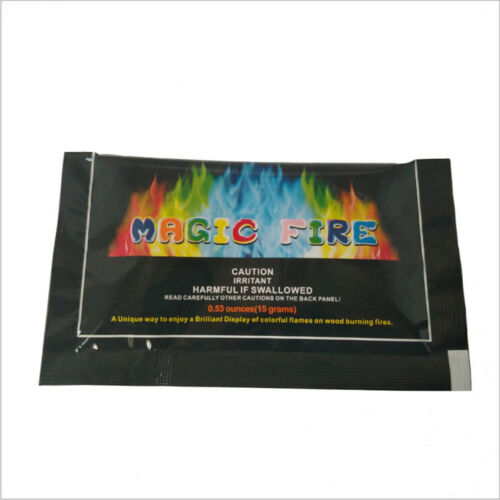 10gMystical Fire Magic Tricks Coloured Flames Bonfire Fireplace Pit Patio ToyFBB