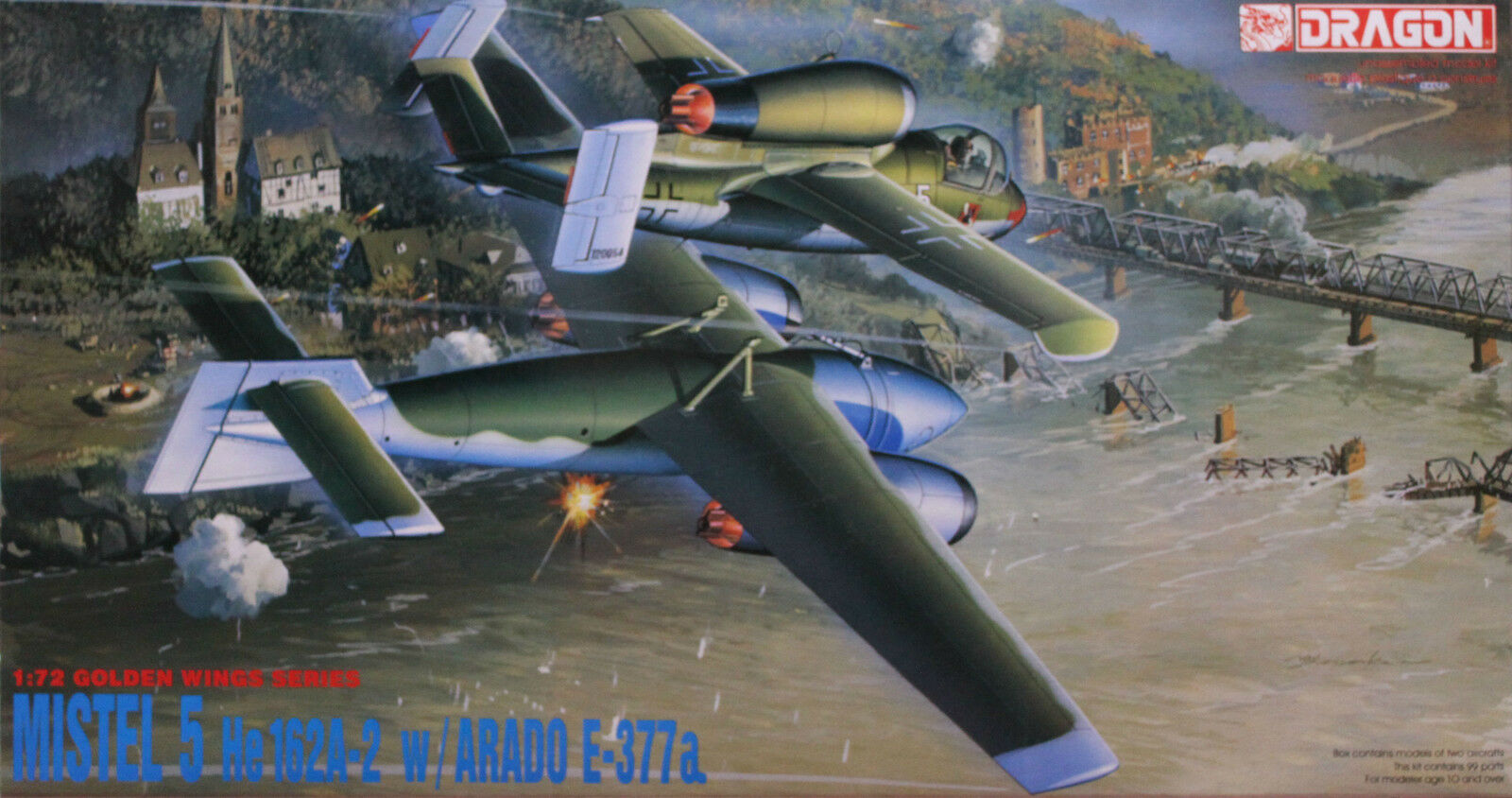 Dragon 1 72 5002 WWII German MISTEL 5 He-162A-2 Fighter w Arado E-377a