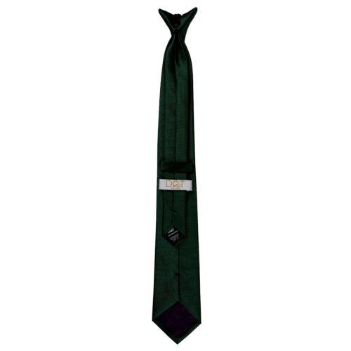 DQT Woven Plaids Checks Plain Solid Check Formal Classic Mens Slim Clip On Tie