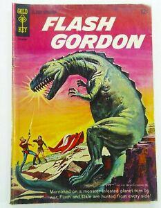 GOLD-KEY-Comics-FLASH-GORDON-1965-1-Key-DINOSAUR-COVER-GD-VG-3-0-Ships-FREE