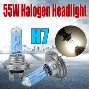 2x-Lamp-Bulb-Car-Headlight-H7-Light-Globes-White-Super-55W-Xenon-Halogen-12V