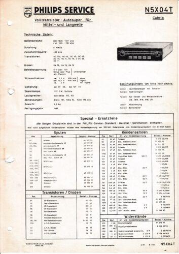 Service Manual-Anleitung für Philips N5 X04 T,Cabrio