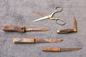 Knives-Scissor-Very-old-Estate-Drawer-Find-Unusual-CASE-Henkles-Brazil-marked-ZG