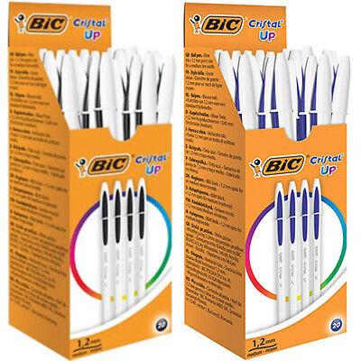 BIC CRISTAL CLIC MEDIUM POINT RETRACTABLE BALL PEN PENS BLUE INK PACK 4pcs