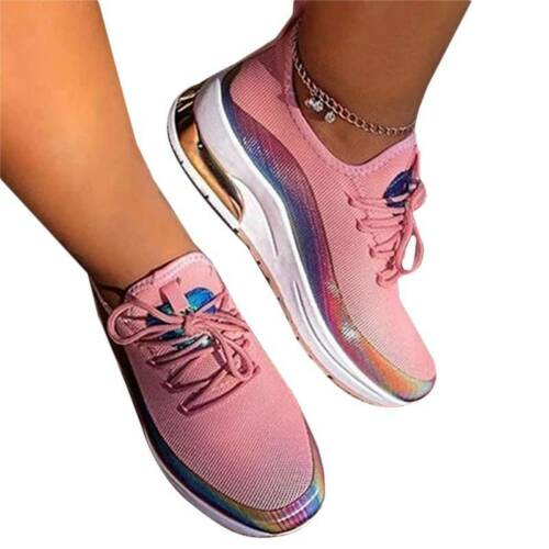 Women Sneakers Breathable Running Casual Jogging Gym Sports Trainers Shoes Size