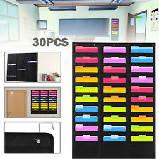 30 Storage Pocket Wall File Organizer Door Classroom Office Hanging Paper Holder