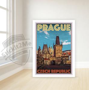 Art Deco Travel Posters Lovely Vintage Retro Holiday Tourism *Unique* Prague