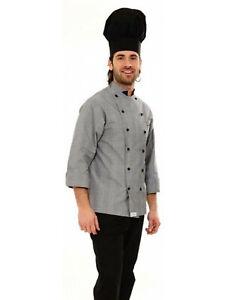 03e7c8394a Dettagli su Giacca Cuoco Casacca Chef Uomo Cucina Divisa Cotone da Lavoro  Ristorante Camicia