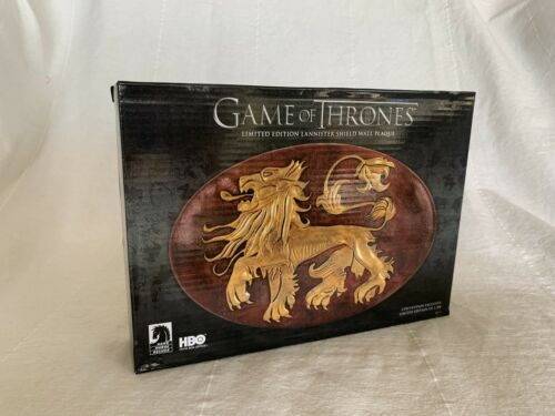 Game of Thrones Lannister Lion Shield WALL PLAQUE LE 2300 SDCC 2014 Dark Horse