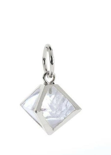Benny And Ezra Octahedron Crystal Pendant Antique White by Benny & Ezra