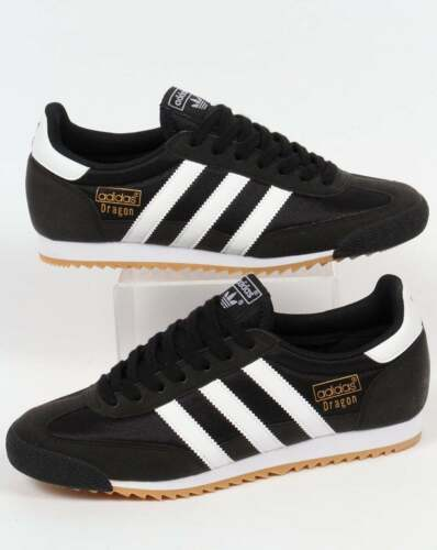 adidas Originals Dragon OG Black White Men 1970s Running Shoes SNEAKERS  BB1266 UK 9