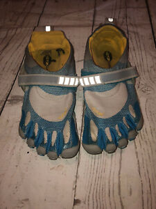 Vibram-Fivefingers-W346-Women-EU38-US-8-Barefoot-Running-Gray-Blue-Shoes