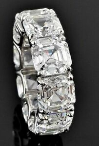 6ct-Asscher-Cut-Diamond-Eternity-Anniversary-Wedding-Band-14k-White-Gold-Finish