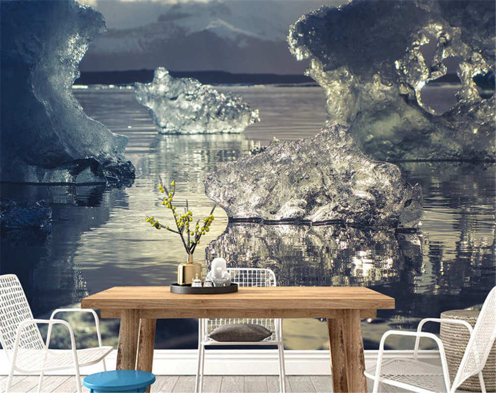 Sculpture Of Snow Full Wall Mural Photo Wallpaper Printing 3D Decor Kid Home