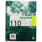 PUKKA Pad Notebook Wirebound Recycled 80gsm Ruled and Margin 4 Hole 110 Pages A4