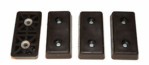 FOUR EXTRA LARGE RECTANGULAR RECTANGLE RUBBER FEET AMPS CASES USA MADE FREE S&H