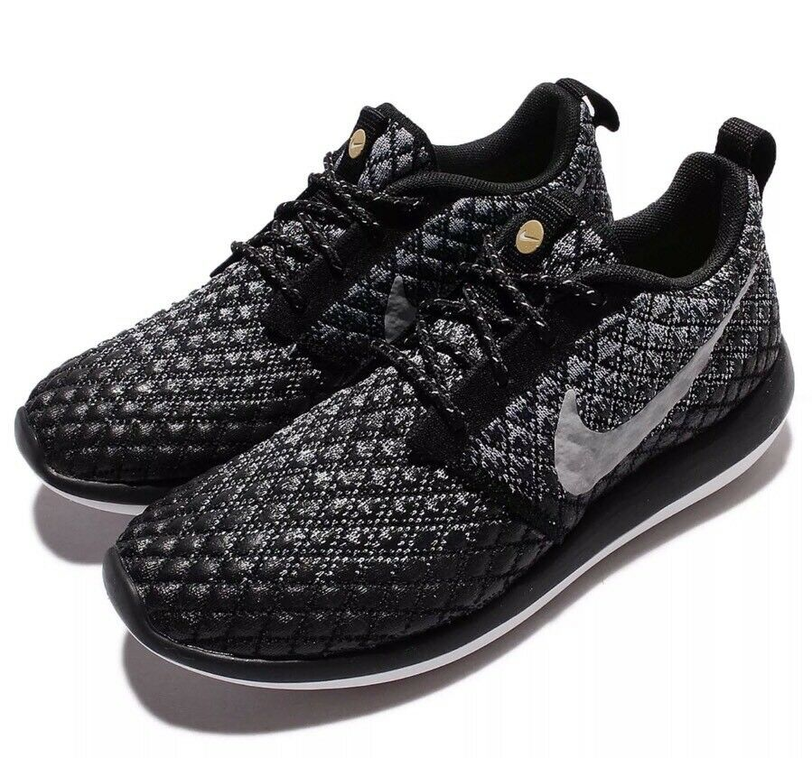 109091d8b8866 NIKE NIKE NIKE ROSHE TWO FLYKNIT 365 RUNNING SHOES GREY BLACK 861706 001 SIZE  6.5 WOMEN S 51b286