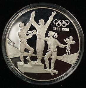 1993-Australia-Silver-Proof-Olympic-100-Years-Commemorative-20-Coin-with-COA