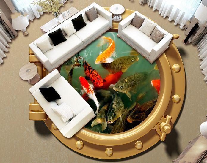 3D Teichfische 23788 Fototapeten Wandbild Fototapete BildTapete Familie DE