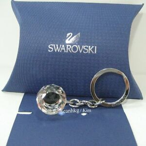 Swarovski-Crystal-Ball-Key-Ring-Holder-SWAN-LOGO-Event-Gift-Authentic-MIB-623413