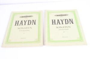 Haydn-Sonaten-fuer-Klavier-III-amp-IV-Partitur-Edition-Peters-Klavier-Noten-Sheet-M
