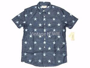 6d7a4f8f Denim Supply Ralph Lauren Mens Blue Allover Star Print Americana ...