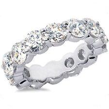 9.01 carat Round DIAMOND 18k White Gold Band ETERNITY RING 12 x 0.75 ct GIA F VS