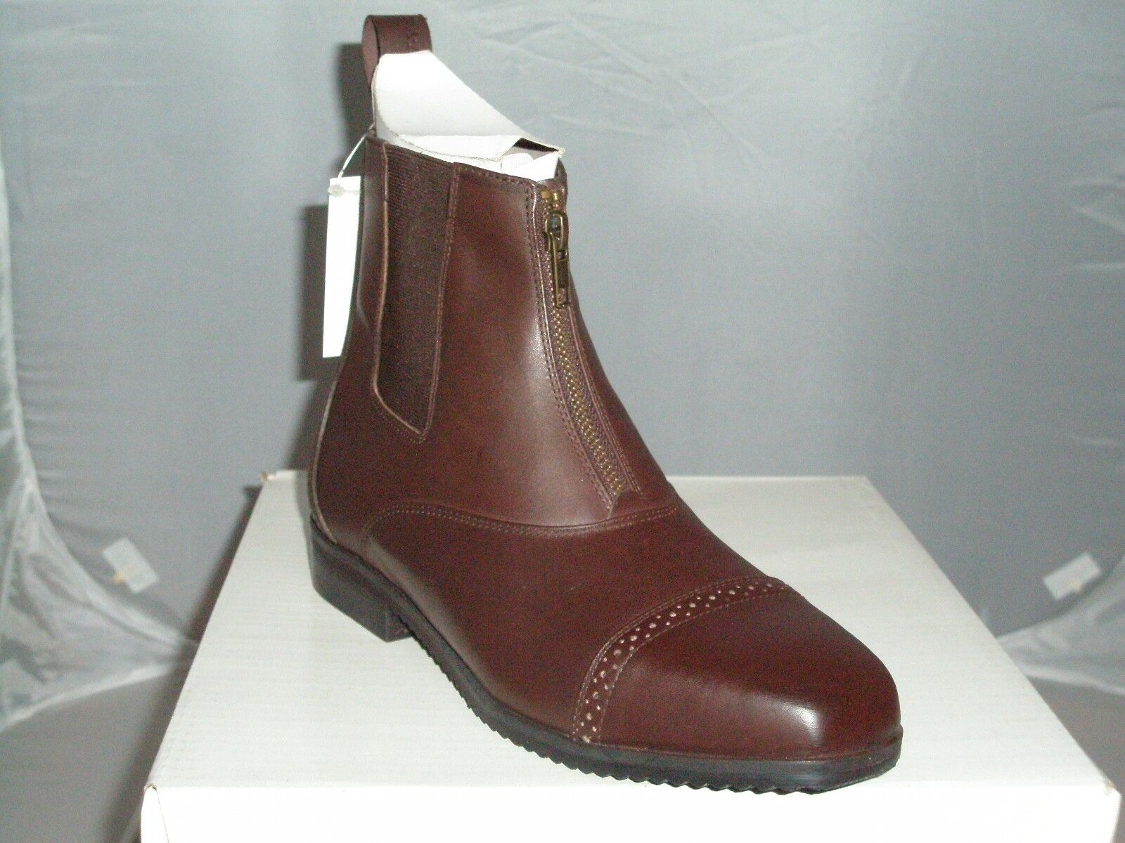 The English Company EQVVS Althorpe Brown Leather Jodhpur Boots With Zips
