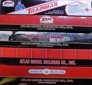 Atlas-Box-Tank-Hopper-Reefer-Cars-amp-Caboose-HO-Select-One-NIB