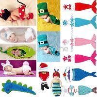 Neugeborene Baby Set Minnie Mouse Strick Kostüm Gestrickt Mütze Fotoshooting Hut