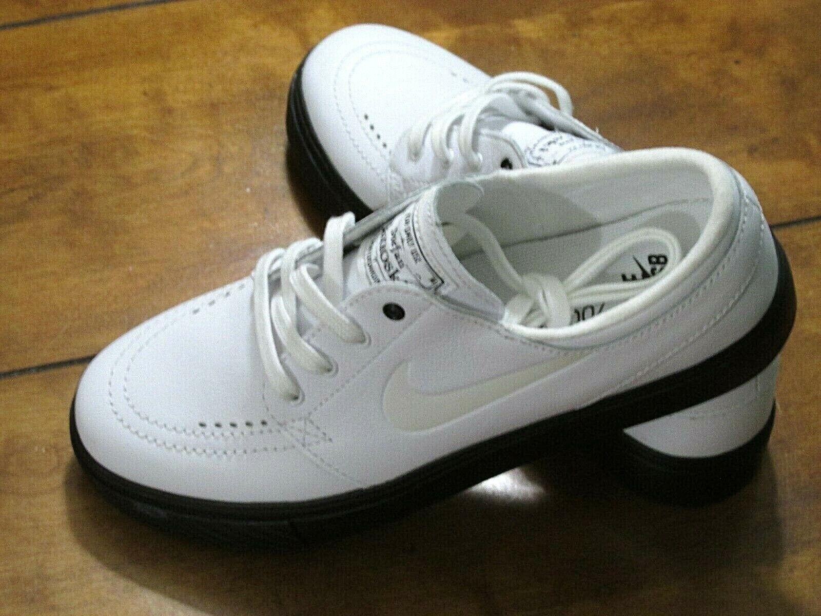 Unisex Nike SB Zoom Stefan Janoski SB Premium White Leather Size Men's(6)Wn(7.5)