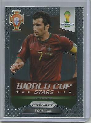 2014 Panini Prizm World Cup Stars Yellow /& Red Pulsar Prizms #49 Luis Figo Card