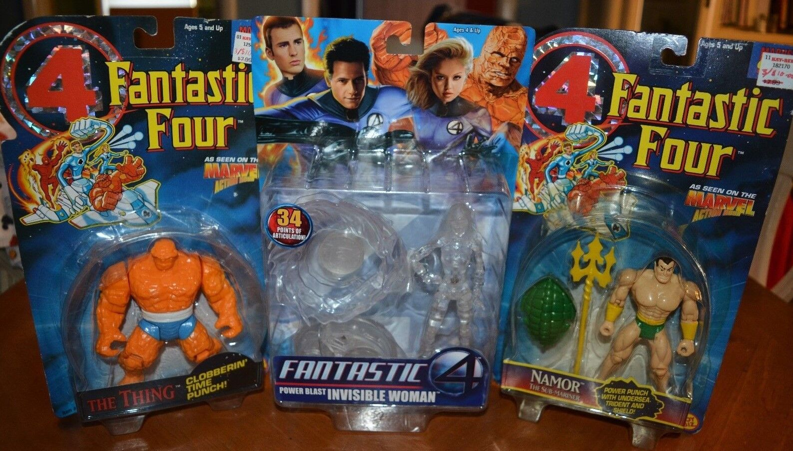 FANTASTIC FOUR 4 - SPECIAL ACTION FIGURE DEAL  NAMOR, THING & INVISIBLE WOMAN