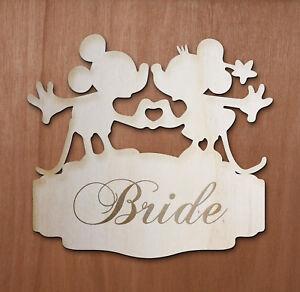 Segnaposto Matrimonio Disney.Personalizzata Mickey Mouse Minnie Disney In Legno Nozze Nome