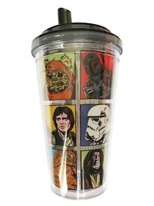 Star Wars Character Grid 16oz Insulated Flip Straw Tumbler