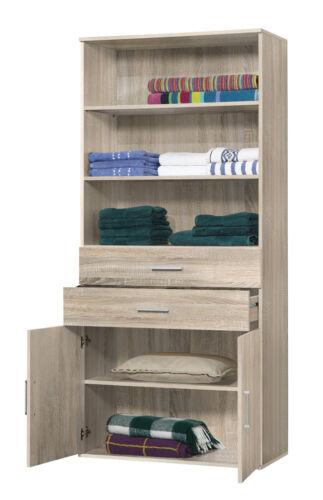 Aufsatz /& Einlegeböden Regalschrank mit Schubladen Weiß Buche Eiche Sonoma