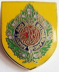 NEW-ARGYLL-AND-SUTHERLAND-HIGHLANDERS-lapel-badge-british-army-thin-Red-Line