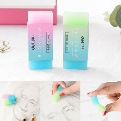 Soft Durable Cube Cute Jelly Translucent Rubber Eraser For Children/'s Stationery