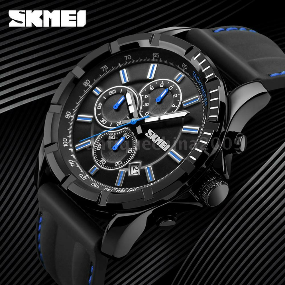 SKMEI Sport Silicone Men Watch 3ATM Water-resistant Quartz Man Wristwatch Z6E8