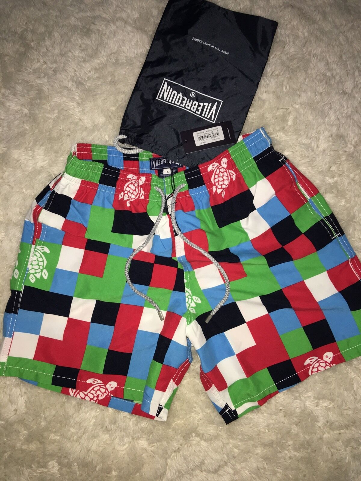 VILEBREQUIN New With Tags And Swim Case Men's Swimming Trunk size M