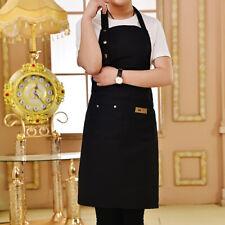 2pcs Women Bib Dress Aprons Waterproof Pockets Kitchen Cooking Adjustable Apron