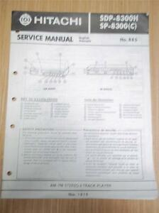 Hitachi-Service-Manual-SDP-8300H-SP-8300-Stereo-Receiver-8-Track-System-Original