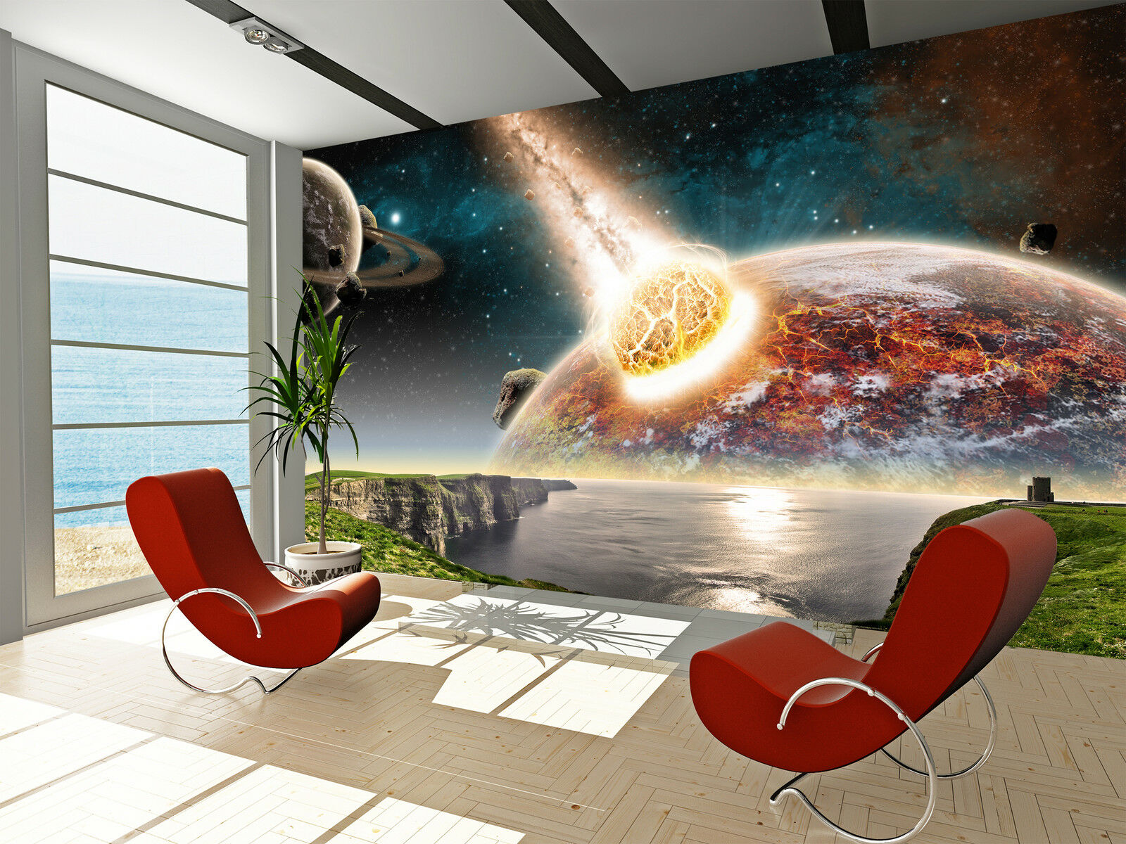 Photo Wallpaper Apocalypse - Earth end of Time GIANT WALL DECOR PAPER POSTER