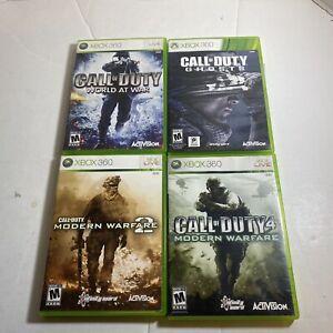 Call Of Duty 4 Modern Warfare 2 world at war Ghost Xbox 360 Lot CIB Complete