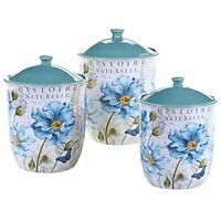 Certified International 3 Piece Tuileries Garden Canister Set, Multicolor, New, on sale