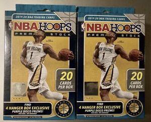 2019 2020 Panini NBA Hoops Premium Stock Hanger Boxes Factory SEALED LOT OF 2