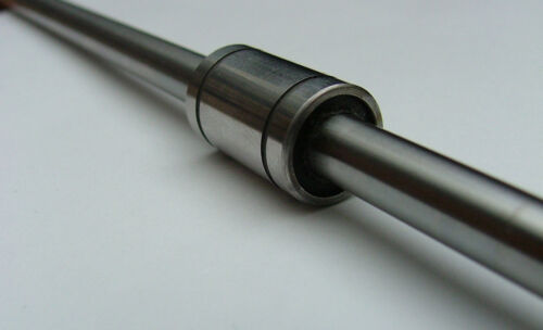 6MM LINEAR SHAFT GUIDE AND BEARING LM6UU 300MM LONG ROD 19MM LONG 12MM DIA
