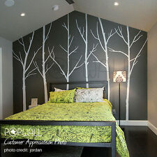 Bare Winter Trees Wall Decal for Home and Office Minimalist Design Sticker