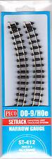 PECO ST-412 4 x 228mm No1 Radius Dble Curve Setrack Code 80 '009' Gauge T48 Post